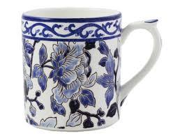 Ivy House Exclusives   Gien Pivoines Bleues Mug $130.00