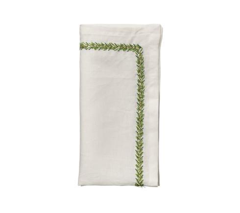 Kim Seybert Linens   Jardin Green & White Napkins Set/4 $112.00