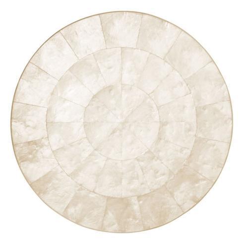 Kim Seybert Linens   Capiz Round Shell Placemats - Set/4 $380.00