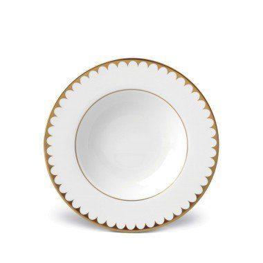 $112.00 Aegean Filet Gold Rim Soup Plate