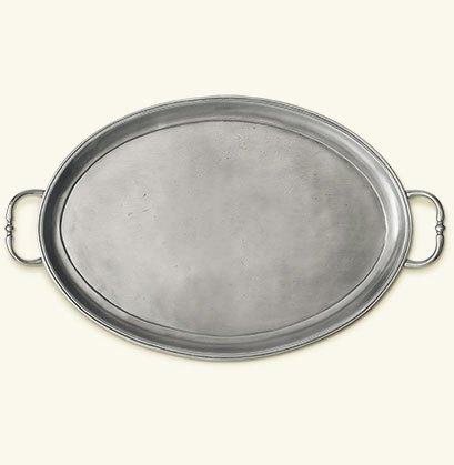 $384.00 Oval Tray with Handles