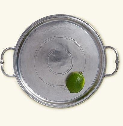 $285.00 Small Round Tray with Handles