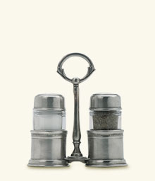 $275.00 Salt & Pepper Shakers with Caddy