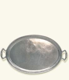 Oval Tray with Handles 16
