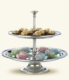 $875.00 Toscana Two-Tier Centerpiece Server