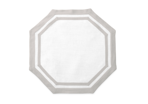 Casual Couture Octagonal Placemat Grey Set/4 collection with 1 products