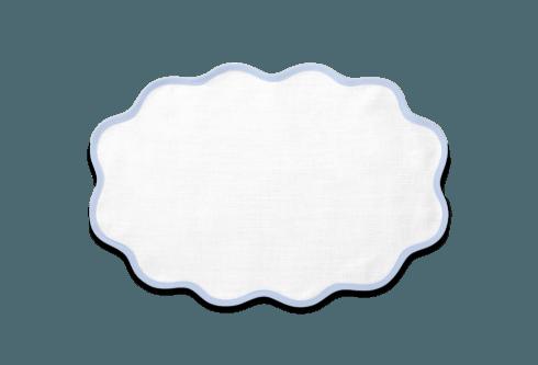 Matouk   Casaul Coutour Scallop Placemat Sky Blue Set/4 $95.00