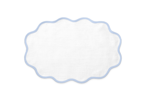 Casaul Coutour Scallop Placemat Sky Blue Set/4 collection with 1 products