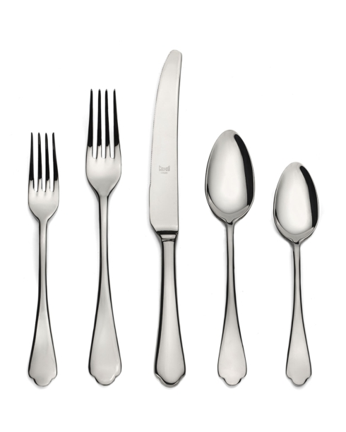 Mepra   Dolce Vita Stainless Steel 5 Piece Place Setting With Monogram $67.00