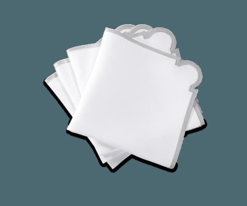 Matouk   Mirasol Napkins Silver Set of 4 $225.00