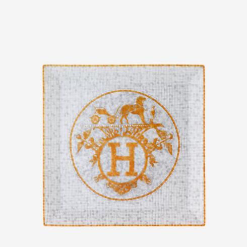 $270.00 Mosaique au 24 Gold Square Plate