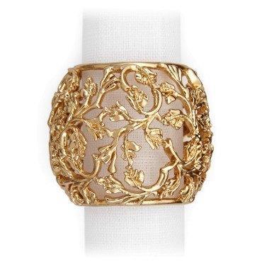 $195.00 Lorel Gold Napkin Rings - Set of 4