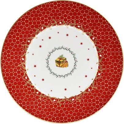 Bernardaud   Noel Accent Dessert Red w/Gift $68.00