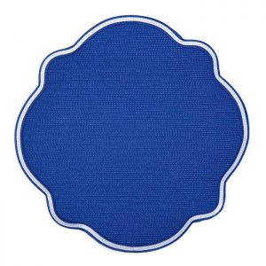 $35.00 Monticello Oxford Blue Placemat Piped in White
