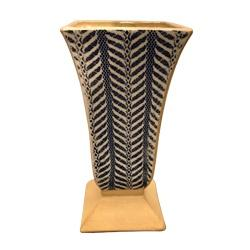 $158.00 Cobalt Quill Pedestal Vase