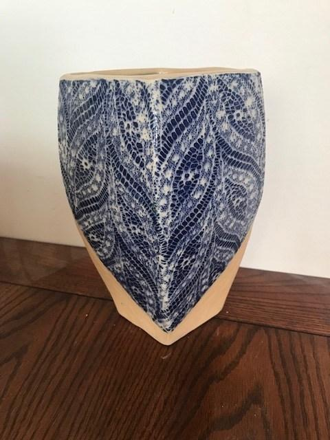 Paisley Cobalt Rhombus Vase collection with 1 products