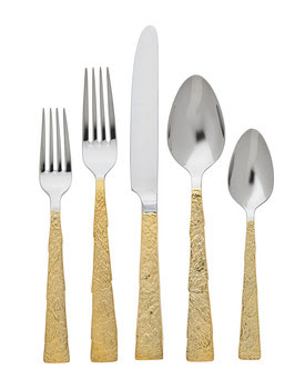$100.00 Slate Gold 5 Piece Place Setting