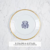Gold Weave Salad Plate with Monogram collection with 1 products