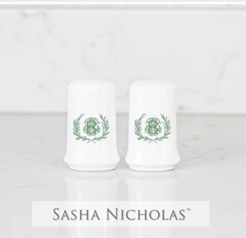 Sasha Nicholas   Salt & Pepper Shakers With Monogram $44.00