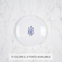 $52.00 Imagine Party Plate with Monogram