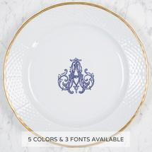 Weave Gold Salad Plate w/Monogram + Personal Message collection with 1 products