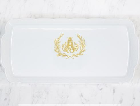 Weave Hostess Platter With Gold Monogram collection with 1 products