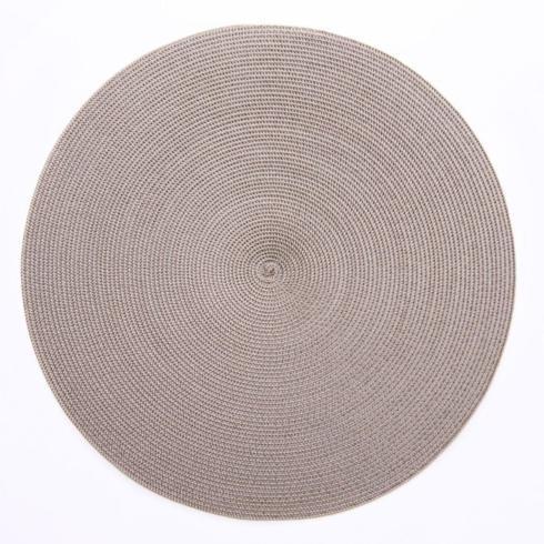 "Deborah Rhodes   15"" Round Luxe Silver/Dust Placemat $33.00"
