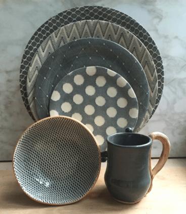 Terrafirma   Small Stacking Tray charcoal Braid $90.00