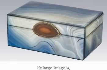 Tizo Designs   Marble Glass Box - Small $67.00