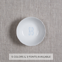 Weave Petite Bowl w/Monogram collection with 1 products