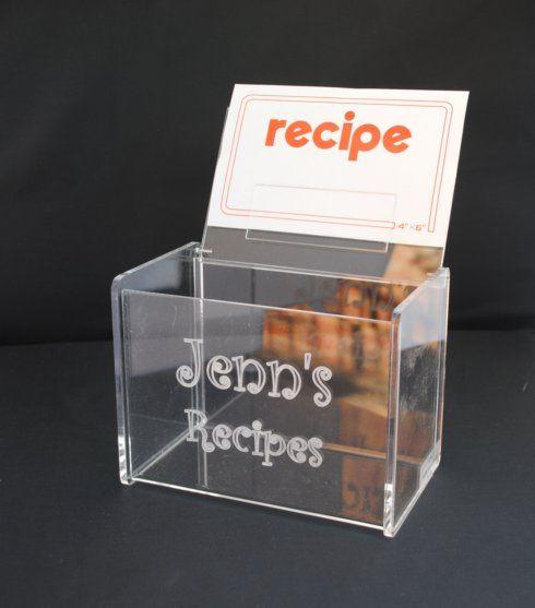 Tiger Lily  Acrylic Recipe Box with cards $48.00