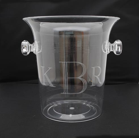 Tiger Lily  Acrylic 3.5 quart Ice Bucket/ Champagne Cooler $44.00