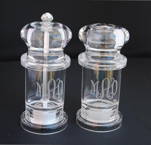 Tiger Lily  Acrylic Salt and Pepper Shakers $32.00