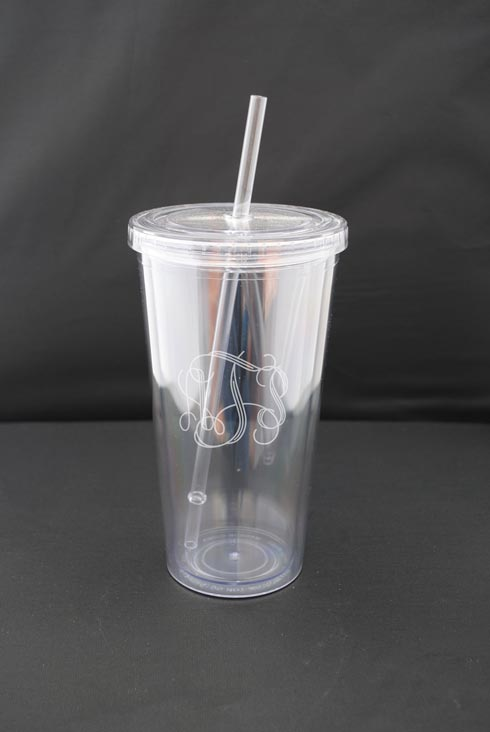 $24.00 19oz Double Wall Tumbler w/ Straw
