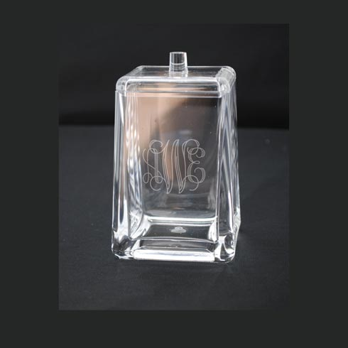 Tiger Lily  Acrylic Square Q-tip/Cotton Ball Holder w/lid $19.00