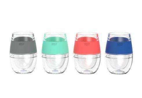 True Fabrications  Freeze Barware Set of 4 Wine Glasses $39.95