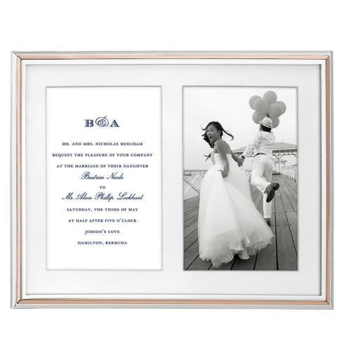 Kate Spade  Frames Rosey Glow Double Invitation Frame $95.00