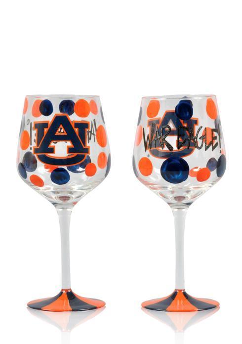 Magnolia Lane  Auburn Wine Glass $19.95