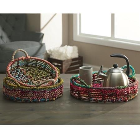 India Handicrafts  Color Jute Baskets 16