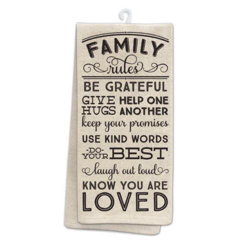Occasionally Made  Linens Family Rules Towel $10.95