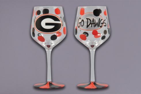Magnolia Lane  Univ. of Georgia - UGA Wine Glass $19.95