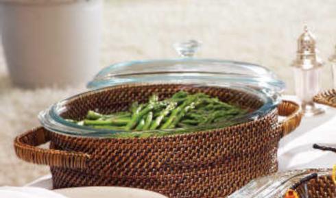 $83.00 Calaisio round hand woven casserole