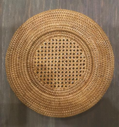 $20.00 Rattan Round Plate Charger
