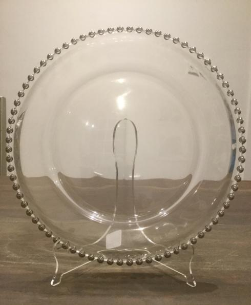 $26.00 Silver Beaded Charger Plate