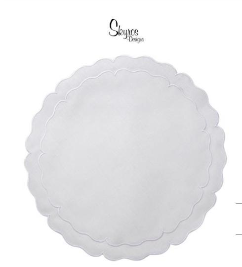 $27.00 Skyros Designs Round Scallop Placemat