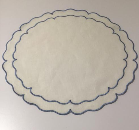 Skyros Round Linen Placemat collection with 1 products