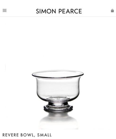 $145.00 Simon Pearce Small Revere Bowl