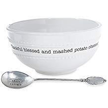 Tipton Hurst Exclusives   mudpie mashed potatoe bowl $45.00