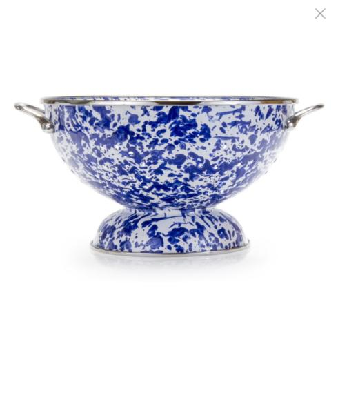 Large Cobalt Swirl Colander collection with 1 products
