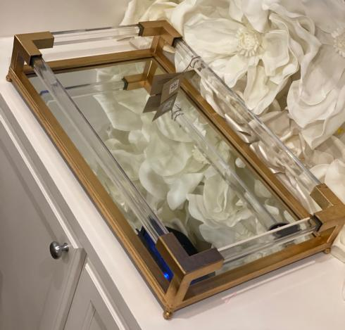 $245.00 Mirrored/Brass Tray